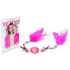 Зажимы на соски с кристаллами и перьями Fancy Feather Nipple Clamps