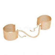 Дизайнерские золотые фиксаторы для рук Desir Metallique