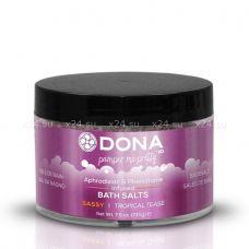 Ароматизированная соль для ванны меняющая цвет воды DONA Tropical Tease 215 г