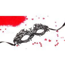 Чёрная ажурная маска на завязочках &quot^Андреа&quot^