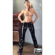 Виниловые брюки с молнией L