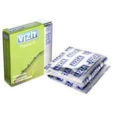 Презервативы VIZIT Hi-tech PLEASURE с кольцами и пупырышками, 3 шт.